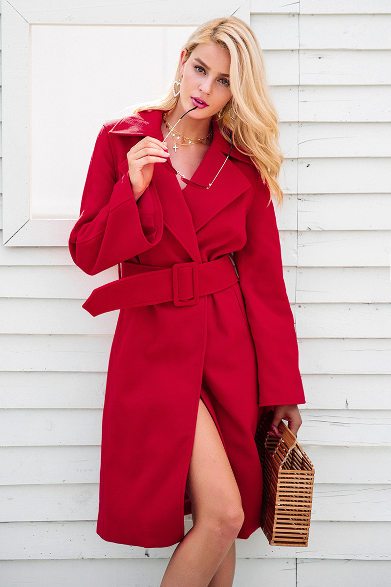 womens red winter jackets