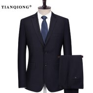 Dark Blue Men Suit, TIAN QIONG Tailor Made Suit wedding suit