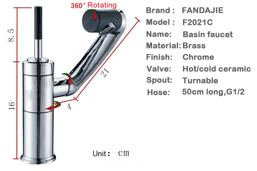 Basin faucet Chrome finished