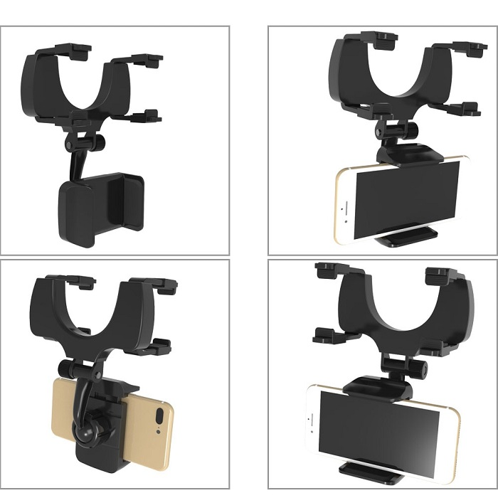 cell phone holder for car mirror