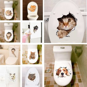 3D Cat Wall/Toilet Sticker