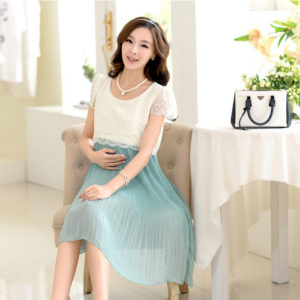 Maternity Nursing Dress For Pregnant Women Clothing 2017 Summer Fashion Chiffon Breastfeeding Skirt Pregnancy Clothes Lactation 1