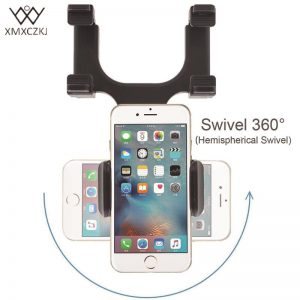 XMXCZKJ Car Phone Holder Car Rearview Mirror Mount Phone Holder 360 Degrees For iPhone Samsung GPS Smartphone Stand Universal 1