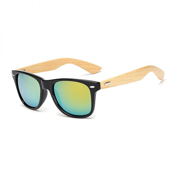 BOYSEEN Retro Wood Sunglasses Men Bamboo Sunglass Women Brand Design Sport Goggles Gold Mirror Sun Glasses Shades lunette oculo 2