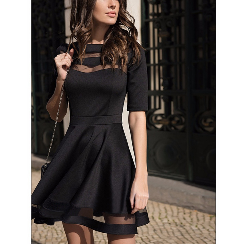 womens black summer dresses