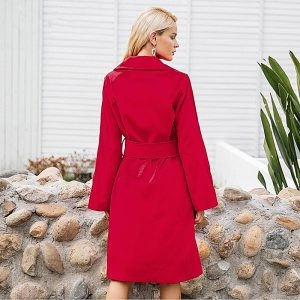 red women's coat