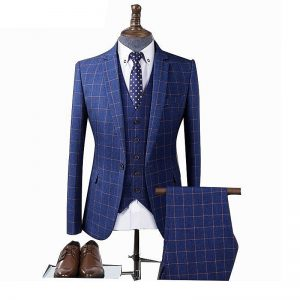 Blue Plaid Suits