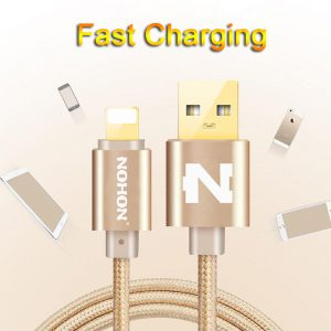 Original NOHON 8pin USB Cable Fast Charging Cable For iPhone 8 X 7 6 6S Plus iOS 10 9 8 iPad Mobile Phone USB Cables 1