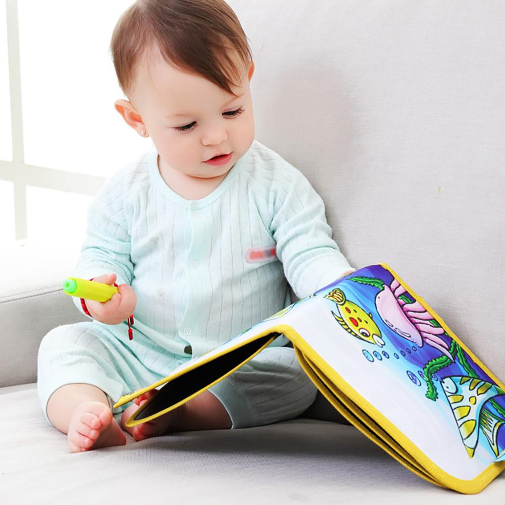 Children\'s Portable Drawing Board Write and Learn Innovative Toy Colorful Chalk Cloth Book Baby Early Educational Learning Toys 2