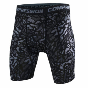 2017 Men Compression Shorts Tights High Elasticity Print Shorts Casual Fitness Camouflage Mens Short Homme Brand Clothing MMA 1