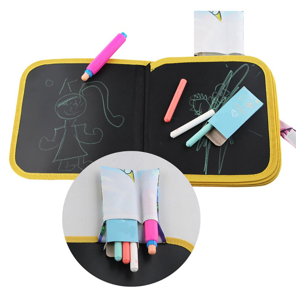 Children\'s Portable Drawing Board Write and Learn Innovative Toy Colorful Chalk Cloth Book Baby Early Educational Learning Toys 5