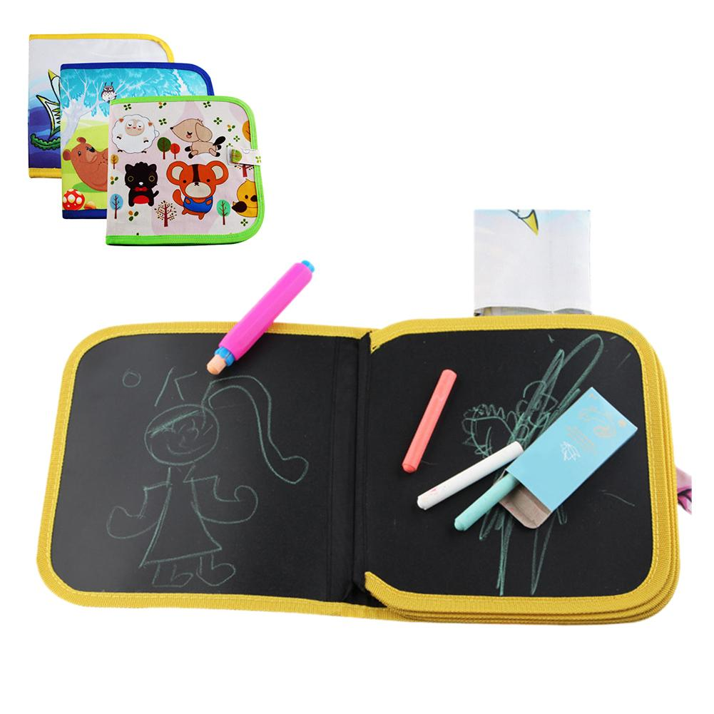 Children\'s Portable Drawing Board Write and Learn Innovative Toy Colorful Chalk Cloth Book Baby Early Educational Learning Toys 3