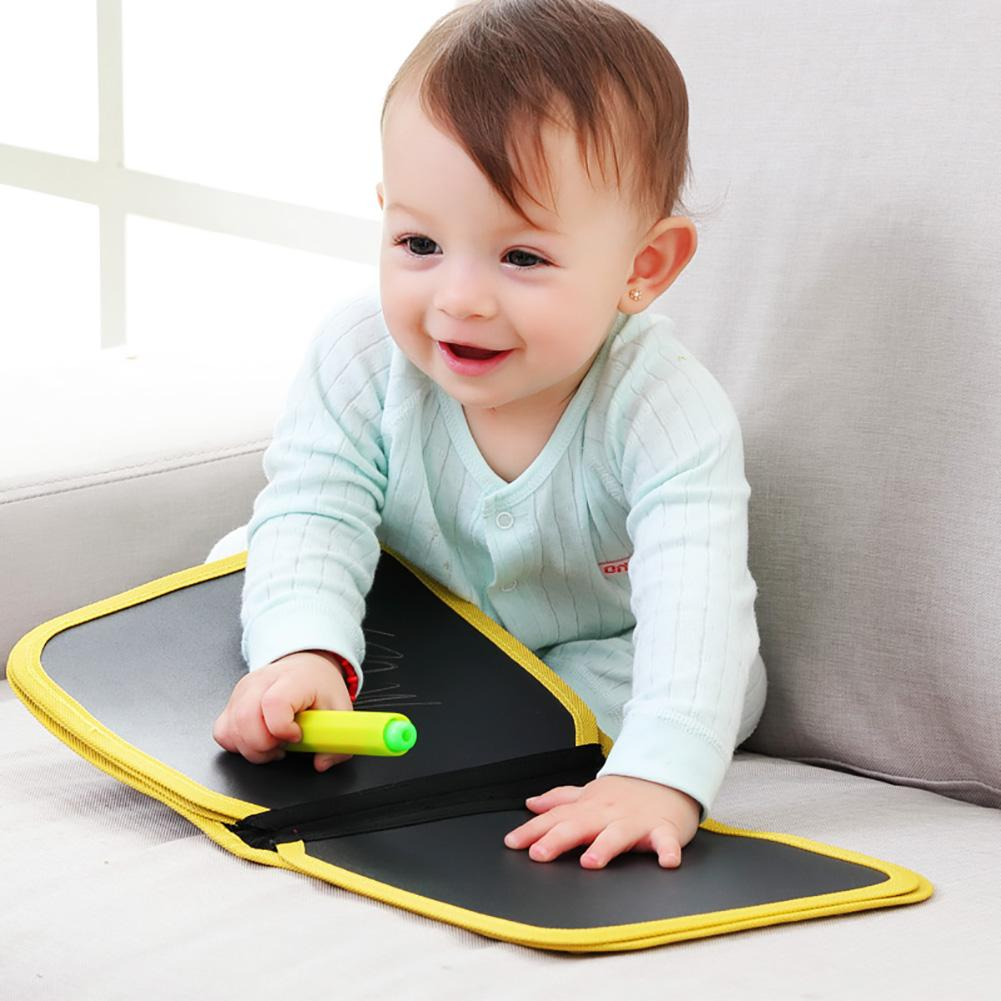 Children\'s Portable Drawing Board Write and Learn Innovative Toy Colorful Chalk Cloth Book Baby Early Educational Learning Toys 1