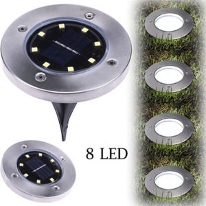 2018 8LED Solar Power Buried Light Under Ground Lamp Outdoor Path Way Garden Decking