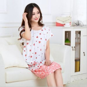 Fdfklak L-XXL Plus Size Summer Cotton Print Maternity Clothing Maternity Nightwear Nightie For Pregnant Women Pregnant Dress F11 1