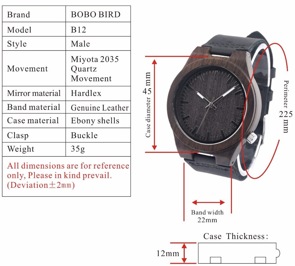 mens bamboo watches