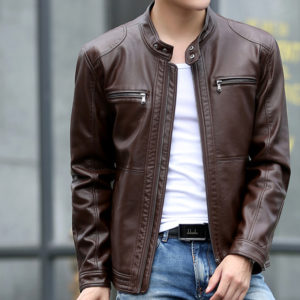 Mountainskin 5XL Men\'s Leather Jackets Men Stand Collar Coats Male Motorcycle Leather Jacket Casual Slim Brand Clothing SA010 1