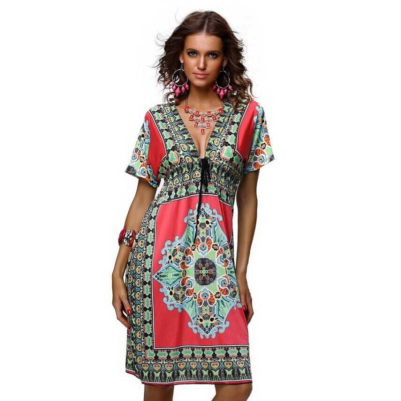 Summer Beach Clothes plus size print dress maternity dress beach dresses