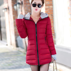 Drop Shipping 4XL Plus Size Wadded Clothing Female 2018 New Women's Winter Jacket Cotton Jacket Slim Hooded Parkas Ladies Coats 1