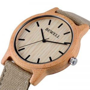 Bewell Bamboo Watch
