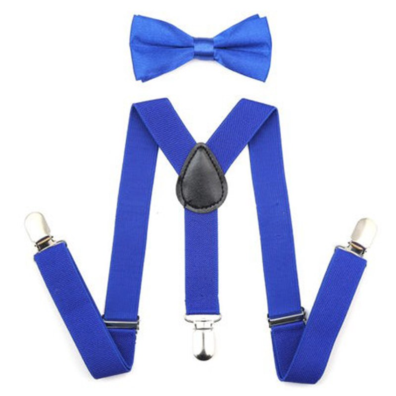 Adjustable Elastic Kids Suspenders With Bowtie Bow Tie Set Matching Ties Outfits Suspender For Girl Boy 7 Colors BBYES 5