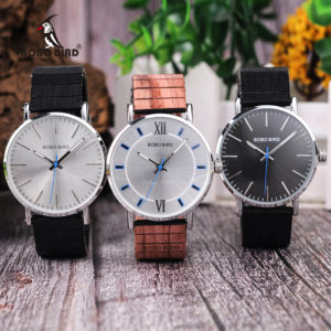 BOBO BIRD New Design Wood Band Watches Timepieces for Men and Women Casual Quartz Watch in Wooden Gift Box DROP SHIPPING 1