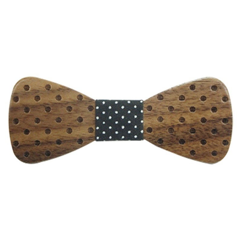 ROPALIA Baby Boy Wooden Bow Ties For Kids Clothing Accessories Solid Color Bowknot Dot Printing Kids Wood BowTie 1