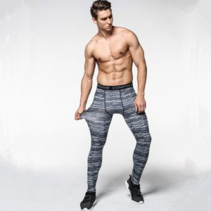 2017 New men camouflage/compression tights/Leggings Running sports/Gym male trousers/capris of fitness/pants of quick-drying 1