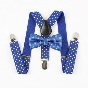 Mantieqingway Boys Gilrs Suspender Bowties Set For Children Wedding Bowties Suspenders Baby Kids Polka Dots Bow Ties Braces Belt 1