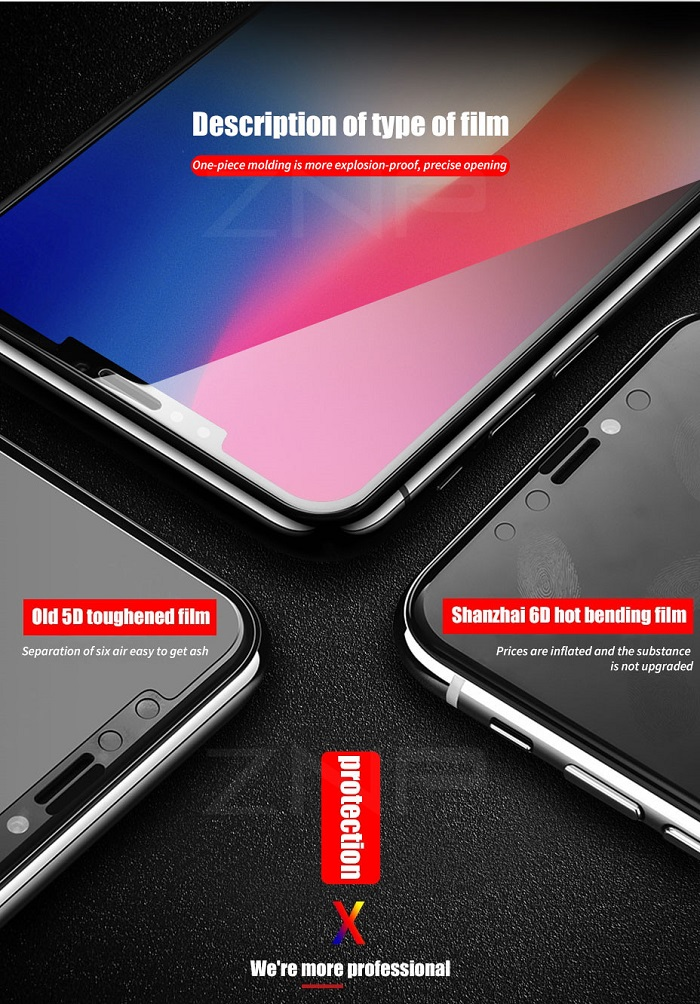 6d tempered glass for iphone 8
