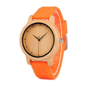 BOBO BIRD Men Design Bamboo Wood Quartz Watch Japanese Movement With Silicone Strap Ladies Watchreloj de silicon para mujer 1