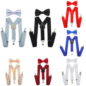 Best Child Suspenders Bow tie Set