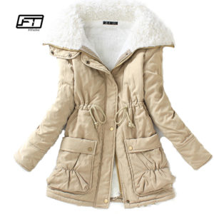 Fitaylor Winter Cotton Coat Women Slim Snow Outwear Medium-long Wadded Jacket Thick Hooded Cotton Padded Warm Cotton Parkas