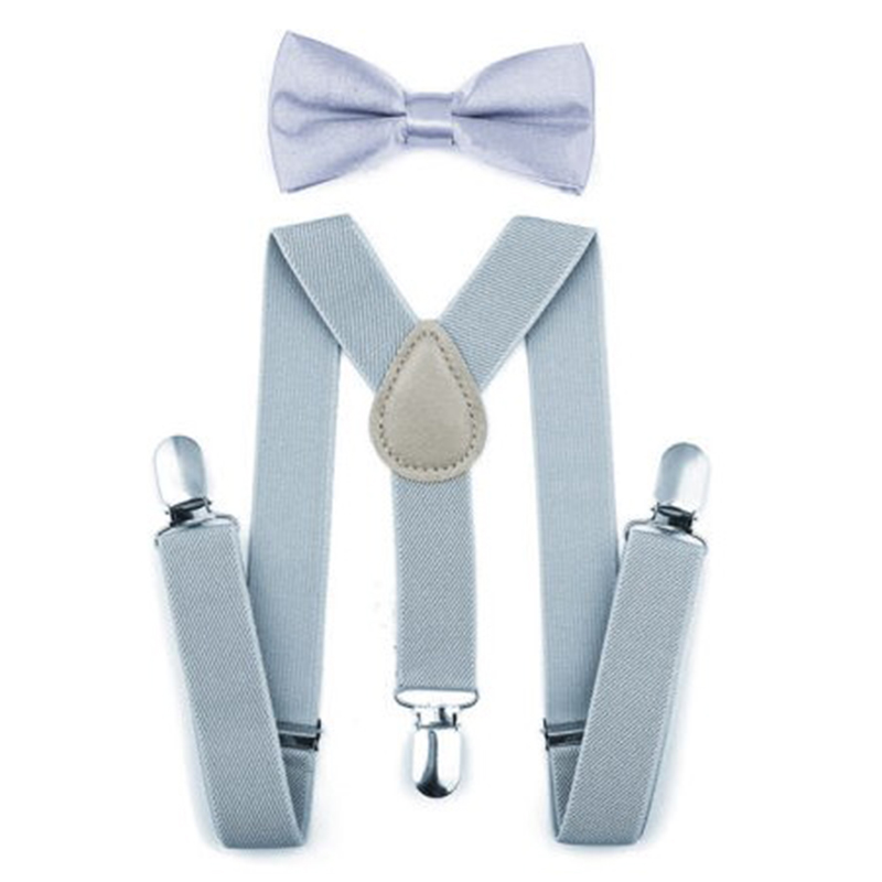 Adjustable Elastic Kids Suspenders With Bowtie Bow Tie Set Matching Ties Outfits Suspender For Girl Boy 7 Colors BBYES 4