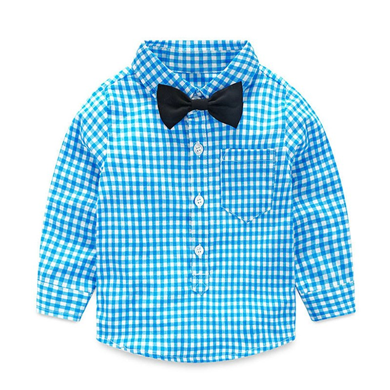 NWAD Baby Boy Clothes Long Sleeve Newborn Baby Sets Infant Clothing Gentleman Suit Plaid Shirt+Bow Tie+Suspender Trousers FF032 3