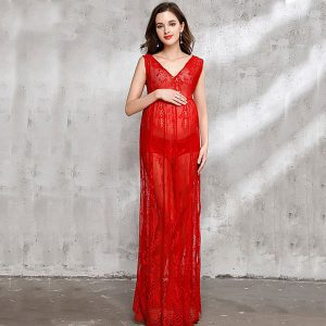 Red Lace Maternity Dresses