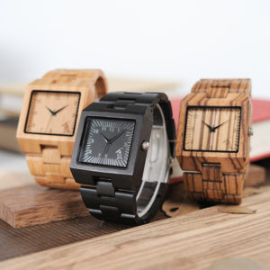 BOBO BIRD Timepieces Bamboo Wooden Men Watches Top Luxury Brand Rectangle Design Wood Band Watch for men 1