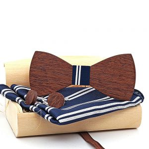 Wholesale Mahoosive Wood Bow Tie Mens Butterfly Cravat Party Ties For Men Wooden Bow Ties Gravatas Corbatas Special Link 1