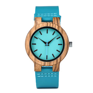 Zebra Wood Watches