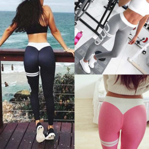 2018New quick-drying ladies leggings large size letters printing leggings sportswear trousers waist Mini Slim pants Product 1