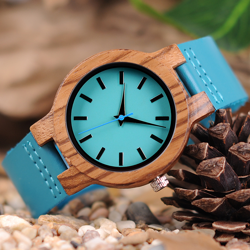 zebra wood women's watch