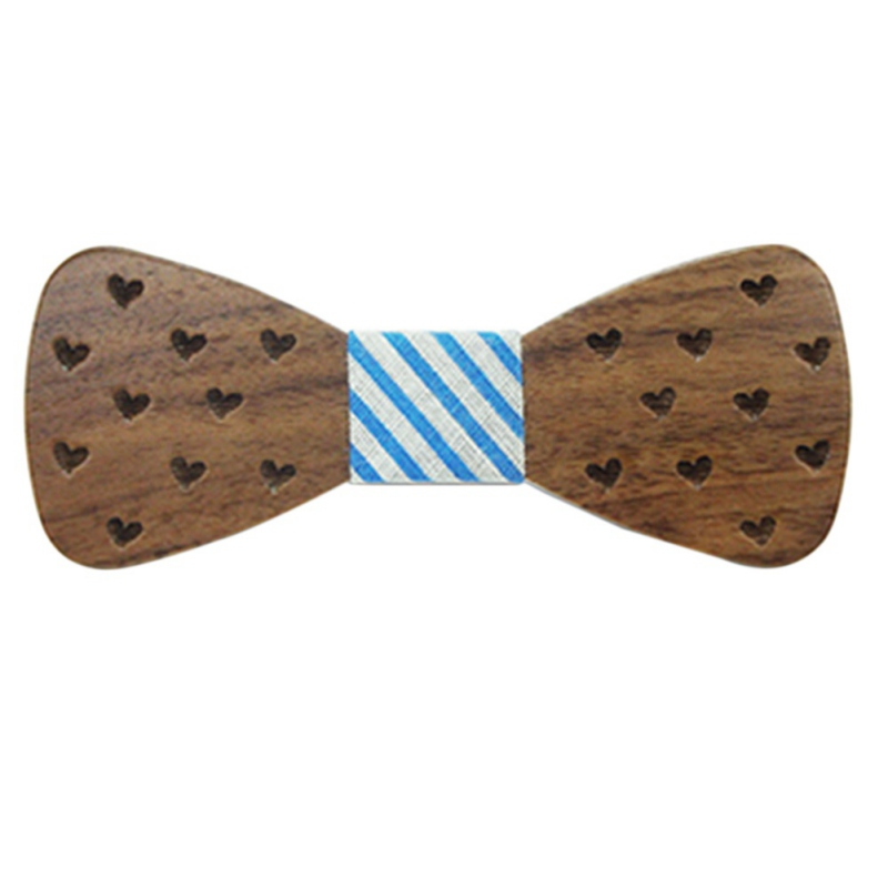 ROPALIA Baby Boy Wooden Bow Ties For Kids Clothing Accessories Solid Color Bowknot Dot Printing Kids Wood BowTie 3