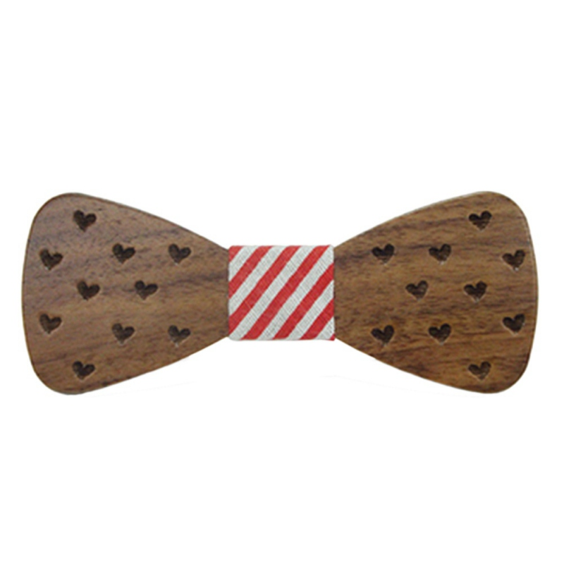 ROPALIA Baby Boy Wooden Bow Ties For Kids Clothing Accessories Solid Color Bowknot Dot Printing Kids Wood BowTie 2