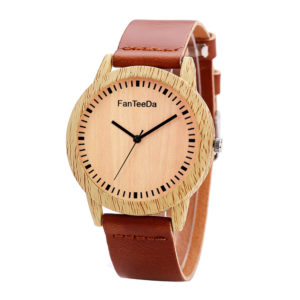 women's leather wrist watch