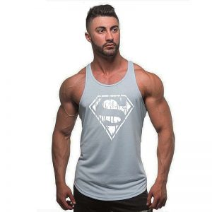 Fashion New Shirts Stretchy Sleeveless T Shirt Casual  Tank Top Men's bodybuilding Fitness Vest T-Shirt TX97-An01-E 1