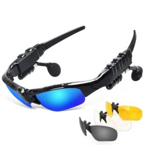 JackJad Smart Wireless Bluetooth Outdoor Sports Sunglasses Google With Headphone Earbuds Telephone Driving MP3 Music Sun Glasses 1