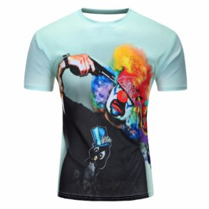 2018 Fashion New Cool T-shirt Men/Women 3d Tshirt Print Suicide clown Short Sleeve