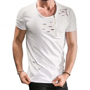 mens ripped t shirt buy online
