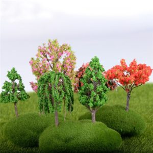 16 style Mini Tree Fairy Garden Decorations Miniatures Micro Landscape Resin Crafts Bonsai Figurine Garden Terrarium Accessories 1