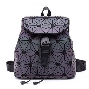 Luminous Backpack stitching Lattice Bag Men Women Backpack for Travel girl School Bag for Student's Backpack Hologram sac a dos 1